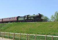 LNER B12 4-6-0 8572 departing Winchcombe for Toddington on 26 May. <br><br>[Peter Todd&nbsp;26/05/2013]