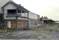 Remains of the 4-platform Coulsdon North station in Surrey, looking north in 1984. The station had been closed in September 1983 and the site was completely cleared by early 1986. Part of the area is now occupied by industrial and commercial premises, with the A23 Coulsdon relief road running through the site.<br><br>[Ian Dinmore&nbsp;27/02/1984]