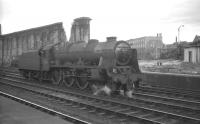 Royal Scot 4-6-0 no 46128 <I>The Lovat Scouts</I> stands at Carlisle in July 1964. The locomotive is waiting to take over the 1.30pm Euston - Perth.<br><br>[K A Gray&nbsp;04/07/1964]