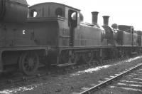 Locomotives in the disposal sidings at Boness Harbour in February 1962 include J83 0-6-0T no 68479.<br><br>[K A Gray&nbsp;26/02/1962]