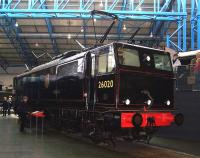 Preserved Gresley EM1 1500V dc locomotive 26020 (latterly BR class 76 no 76020) at the National Railway Museum, York, in April 2013.<br><br>[Colin Alexander&nbsp;08/04/2013]