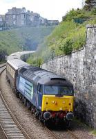 The Darlington - Dundee Northern Belle between Kinghorn tunnel and station on 15 June behind 47501. No 47832 was on the rear of the train.<br><br>[Bill Roberton&nbsp;15/06/2013]