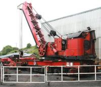 The NYMR steam breakdown crane, Cowans Sheldon ADRC95224 of 1926, photographed in June 2013 standing alongside the shed at Grosmont. <br><br>[John Furnevel&nbsp;06/06/2013]