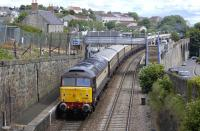 47832 brings up the rear of the <I>Northern Belle</I> passing through Kinghorn station on 15 June en route from Darlington to Dundee. 47501 is on the front of the train.<br><br>[Bill Roberton&nbsp;15/06/2013]