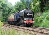 A1 Pacific no 60163 <I>Tornado</I> forging up the bank between Blackford Hill and Morningside Road on 16 June with the SRPS Fife Circle tour.<br><br>[Alasdair Taylor&nbsp;16/06/2013]