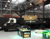 A former GWR Scammell Scarab at Swindon Museum in March 2013.<br><br>[Peter Todd&nbsp;20/03/2013]