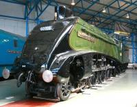 Cosmetically restored A4 Pacific no 60008 <I>Dwight D Eisenhower</I> on display at the National Railway Museum, York, on 6 June 2013.<br><br>[John Furnevel&nbsp;06/06/2013]