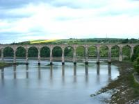 View west along the River Tweed towards the Royal Border Bridge on 14 June. <br><br>[Veronica Clibbery&nbsp;14/06/2013]