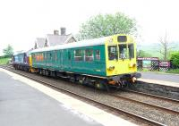 Network Rail inspection saloon (ex-BR Southern Region General Manager's Saloon) 975025 <I>Caroline</I> being propelled south through Horton-in-Ribblesdale on 19 June by DRS 37419. <br><br>[Jim Peebles&nbsp;19/06/2013]