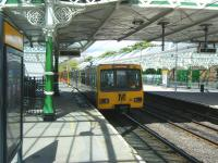 A Metro service for South Shields leaving Tynemouth station on 12 June 2013.<br><br>[Veronica Clibbery&nbsp;12/06/2013]