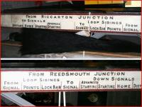 Memories of Riccarton South. Spotted in the 'warehouse' section of the NRM on 6 June. (The boards are stored vertically, two photographs have been combined and rotated through 90 degrees). [See image 23830]  <br><br>[John Furnevel&nbsp;06/06/2013]