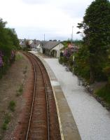View over Plockton station towards Kyle of Lochalsh in June 2013 showing the improvements to the platform surface since the adoption of the station by Plockton High School. [See image 26277] <br><br>[David Pesterfield&nbsp;20/06/2013]