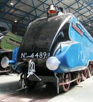 Cosmetically restored (and how) 4489 <I>Dominion of Canada</I>, complete with bell, standing in the Great Hall of the National Railway Museum, York, in June 2013. The locomotive was on loan from the Canadian Railway Museum, Montreal. [See image 30040]<br><br>[John Furnevel&nbsp;04/06/2013]