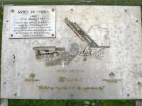 Plaque attached to the McKelvie hydraulic lifting bridge, south of Keiss, Caithness, near the point where the A99 crosses the pipeline fabrication tracks. The plaque marks the commissioning of the bridge on 31 March 1994 [see image 43549].<br><br>[David Pesterfield&nbsp;22/06/2013]