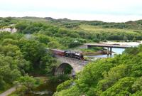 Black 5 No.45407 seen crossing the viaduct over the River Morar on 26 June with the morning <I>Jacobite</I> steam service from Fort William to Mallaig.<br><br>[John Gray&nbsp;26/06/2013]