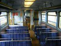 Spartan interior of a 142 unit standing at Newcastle Central in June 2013.<br><br>[Veronica Clibbery&nbsp;12/06/2013]