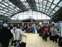 Comings and goings, Liverpool Lime Street, 21 June 2013.<br><br>[Veronica Clibbery&nbsp;21/06/2013]