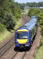170424 nears Dysart on 6 July with the 12.34 from Dundee to Edinburgh.<br><br>[Bill Roberton&nbsp;06/07/2013]