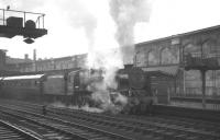 Upperby shed's Royal Scot no 46118 <I>Royal Welch Fusilier</I> preparing for the off at Carlisle platform 4 on 17 August 1963. The locomotive is about to take out the 8.00am Aberdeen - Manchester.<br><br>[K A Gray&nbsp;17/08/1963]