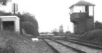 The site of Usworth station on the old main line through County Durham via Leamside in May 1992. View is north towards Pelaw Junction over the former A1290 level crossing.<br><br>[John Furnevel&nbsp;07/05/1992]