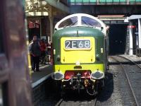 Deltic D9009 <i>Alycidon</i> about to take charge of a train at Bury Bolton Street on 7 July.<br><br>[Colin Alexander&nbsp;07/07/2013]