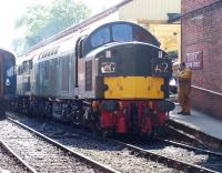 EE Type 4 no D335 alongside the platform at Bury Bolton Street on 7 July 2013 during the East Lancashire Railway's diesel gala.<br><br>[Colin Alexander&nbsp;07/07/2013]