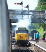 Photograph taken during the ELR Diesel Gala on 7 July, with 50026 getting underway at Bury Bolton Street.<br><br>[Colin Alexander&nbsp;07/07/2013]
