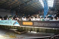 The six surviving Gresley A4s lined up around the turntable in the Great Hall of the NRM on 13 July 2013 during <I>The Great Gathering</I>. <br><br>[John McIntyre&nbsp;13/07/2013]