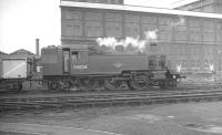 BR Standard Class 2 2-6-2T 84024 alongside Stewarts Lane shed in August 1961.<br><br>[K A Gray&nbsp;21/08/1961]