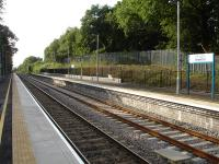 The new up platform at Gowerton in July 2013, following completion of works to reinstate double track over a five mile section from Llanelli to east of the station. [See image 38112] <br><br>[David Pesterfield&nbsp;15/07/2013]