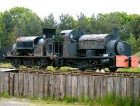 Pair of preservation candidates at Beamish Museum in June 2013. On the right is an 0-4-0ST industrial locomotive believed to date from around 1900 and to have once worked in Stockton Ironworks. It carries the number 5 and the name <I>Malleable</I>. On the left is Manning Wardle 0-6-0ST 1532 of 1901, named <I>Newcastle</I>.<br><br>[Veronica Clibbery&nbsp;11/06/2013]