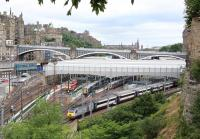 View over the east end of Waverley on 7 July 2013.... and not a bus on the North Bridge!<br><br>[John Furnevel&nbsp;/07/2013]