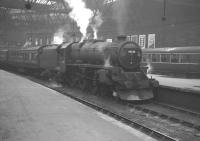 Black 5 45126 prepares to leave Edinburgh's Princes Street terminus on 18 May 1964 with the 1.20pm service to Lanark.<br><br>[K A Gray&nbsp;18/05/1964]