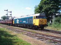 50026 with a train at Ramsbottom on the East Lancs Railway on 7 July 2013.<br><br>[Colin Alexander&nbsp;07/07/2013]
