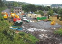 Progress at Gorebridge - view south from Station Road on 25 July 2013.<br><br>[Bill Roberton&nbsp;25/07/2013]