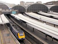 View over Paddington station in April 2011 with a First Great Western HST about to depart.<br><br>[Ian Dinmore&nbsp;15/04/2011]