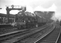 46115 <I>Scots Guardsman</I> at Carlisle on 13 February 1965 with the R.C.T.S. (Lancashire & North West Branch) <I>Rebuilt Scot Commemorative Rail Tour</I>. [See image 23520]<br><br>[K A Gray&nbsp;13/02/1965]