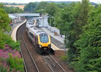 A Dundee - Penzance CrossCountry service leaves Inverkeithing on 29 July.<br><br>[Bill Roberton&nbsp;29/07/2013]