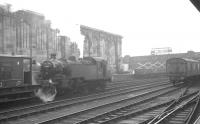 Ivatt 2MT no 41229 shunts the west sidings at Carlisle station, thought to be in 1966. The 2-6-2 tank was withdrawn from Upperby shed in November that year.<br><br>[K A Gray&nbsp;//1966]