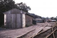 The former Marcroft Wagon Works, Radstock, photographed in August 1988, the year after official closure. The works had been the main reason for the survival of the Frome to Radstock line, which itself finally closed in 1988. [See image 44052]<br><br>[Ian Dinmore&nbsp;/08/1988]