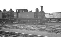 Holden J67  0-6-0 no 68500, built by Beyer-Peacock in 1893, thought to have been photographed in the yard at Stratford, from where it was withdrawn in January 1961.<br><br>[K A Gray&nbsp;//]