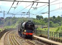60163 <I>Tornado</I> arriving at Durham on 30 June 2012 with <I>The Cathedrals Express</I> charter from London Kings Cross.<br><br>[Ian Dinmore&nbsp;30/06/2012]