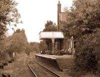 Looking through Lingwood station from the level crossing on 31 October 2011.<br><br>[Ian Dinmore&nbsp;31/10/2011]