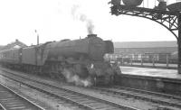 Neville Hill A3 no 60084 <I>Trigo</I> at Leeds City station with a military special in the summer of 1963.<br><br>[K A Gray&nbsp;29/06/1963]