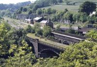 The derelict Millers Dale station on the late-lamented former Midland main line through the Peak District photographed from the south-east in the summer of 1973.<br><br>[Bill Jamieson&nbsp;//1973]