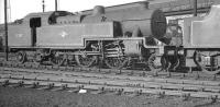 Fowler 2-6-4T no 42357 stands on Upperby shed in the summer of 1962. <br><br>[K A Gray&nbsp;07/06/1962]