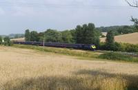 An eastbound First Great Western HST passing Crofton on 25 August 2013.<br><br>[Peter Todd&nbsp;25/08/2013]