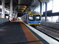 An emu for Williamstown runs into Platform 14 at Melbourne Southern Cross station on 12 May 2013.<br><br>[Colin Miller&nbsp;12/05/2013]