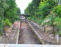 View south over the remains of the 1847 Eskbank station on 28 August 2013.<br><br>[John Furnevel&nbsp;28/08/2013]