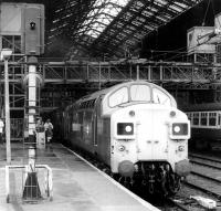 An unidentified class 37 waits to take a train out of Liverpool Street in February 1982.<br><br>[John Furnevel&nbsp;18/02/1982]